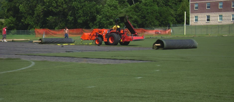 A-Turf field replacement project at Elizabethtown College in PA
