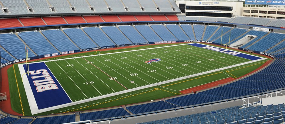 A-Turf Titan on football field at New Era Field for NFL Buffalo Bills