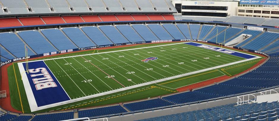 A-Turf Titan on football field at New Era Field for NFL Buffalo Bills