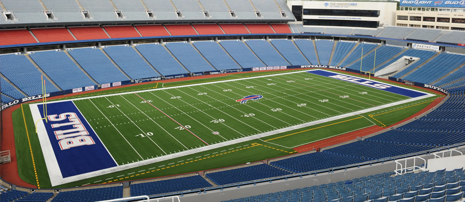 A-Turf Titan field at Buffalo Bills Ralph Wilson Stadium in Orchard Park, NY