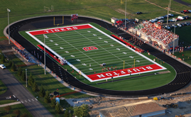 A-Turf on Bluffton-Harrison High School football field