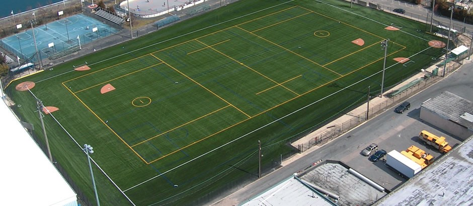 A-Turf lacrosse and baseball field at City of Long Beach NY facility