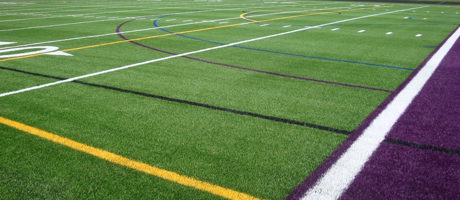 A-Turf on multi-sport field at Hamburg High School