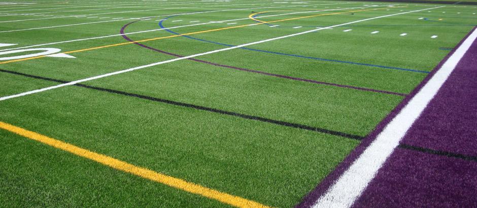 A-Turf on multi-sport field at Hamburg High School