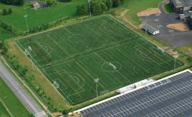Multi-sport A-Turf fields at Hempfield High School in Landisville, PA