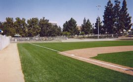 A-Turf used on basbeall field at Seoul International Park in Los Angeles, CA