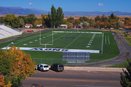 A-Turf football field at Snow College in Ephraim, UT