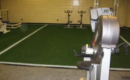 A-Turf at New York Yankees workout room at Yankee Stadium