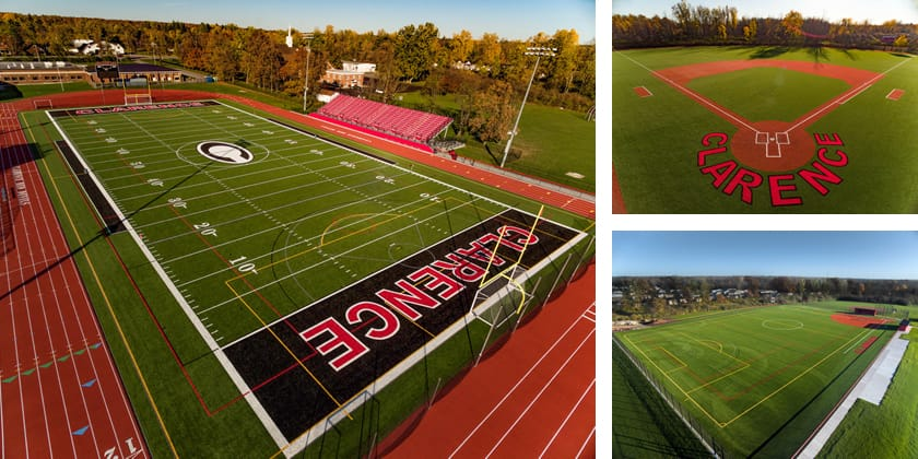 Three New Fields Installed For The Clarence High School