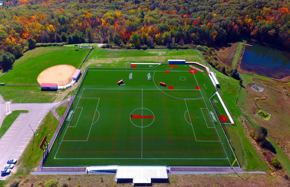 Corning Community College's 50,000 s.f. A-Turf® Titan multi-sport field was installed in 2015.