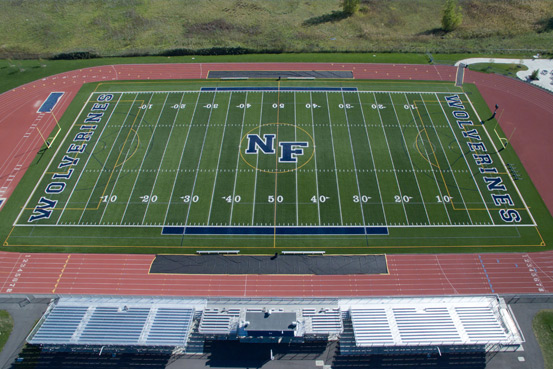 A-Turf football field at Niagara Falls High School