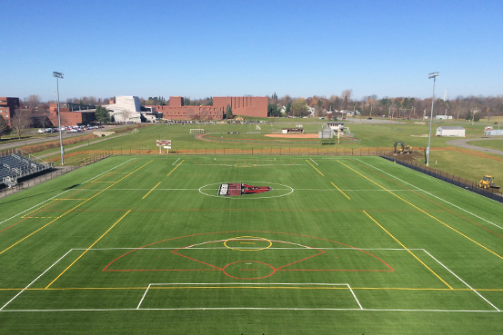 Lacrosse is one of the sports played on new A-Turf field at SUNY Potsdam State