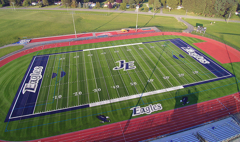 Jordan-Elbridge High School Eagles Flying High with New A‑Turf Athletic Field