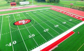 Saint Francis High School's 98,000 s.f. A-Turf® multi-sport field was installed in 2015.