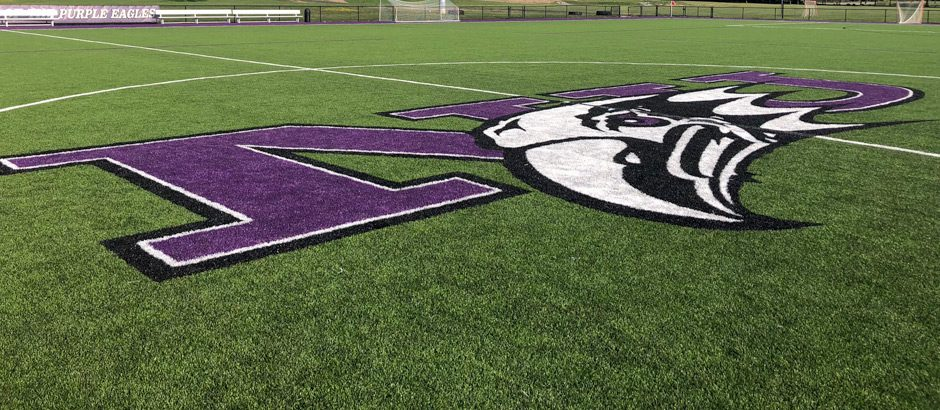 Niagara University logo on turf