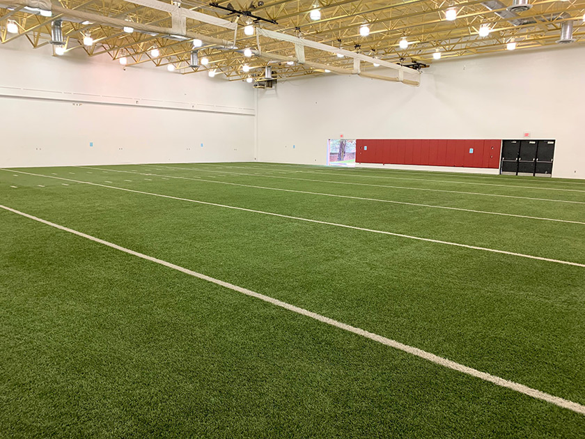 Erie Community College Indoor Gym Featuring Repurposed A-Turf Titan