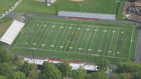 Aerial photo of original field in 2006